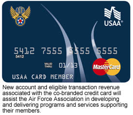 Air Force Association Chooses Usaa Bank For Credit Card Services